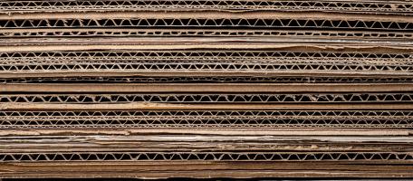 A stack of corrugated cardboard